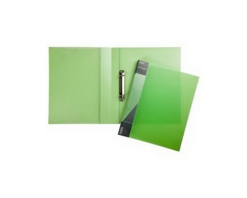 Папка 2 кольца Hatber DIAMOND полупрозрачная Зеленая
