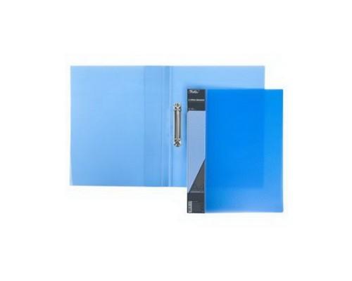 Папка 2 кольца Hatber DIAMOND полупрозрачная Синяя