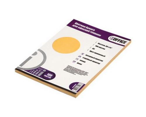 Бумага A4 100 листов iOffice 80 г/м2, оранжевая !АКЦИЯ! /БЕЗ СКИДКИ/