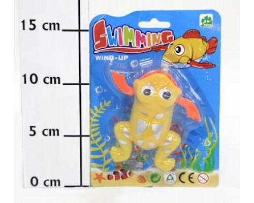 Игрушка заводная плавающая лягушка 011В
