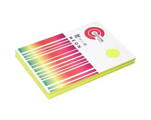 Бумага A4 50 листов COLOR CODE NEON пл.75гр/м2, желтая БЕЗ СКИДКИ