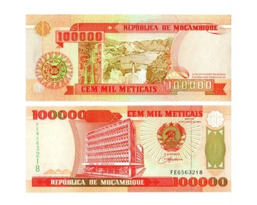 БЕЗ СКИДКИ Банкнота 100000 метик Мозамбик (260)