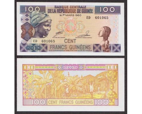 БЕЗ СКИДКИ Банкнота 100 франков Гвинея 2012 KR
