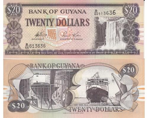 БЕЗ СКИДКИ Банкнота 20 долларов Гайана 2009 KR