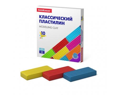 Пластилин 10 цветов ErichKrause Basic 160гр.
