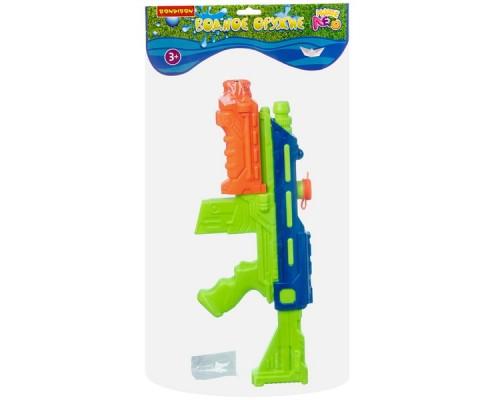 Водный пистолет с помпой Наше Лето 48х18,3х4,5 см, зелёно-синий