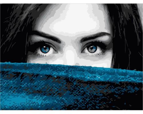 """Картина для раскрашивания по номерам ФРЕЯ """"Тону в твоих глазах""""40*30"""