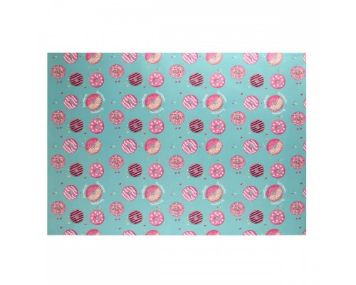 Бумага упаковочная 70*100 1 лист Donut КОКОС 209668