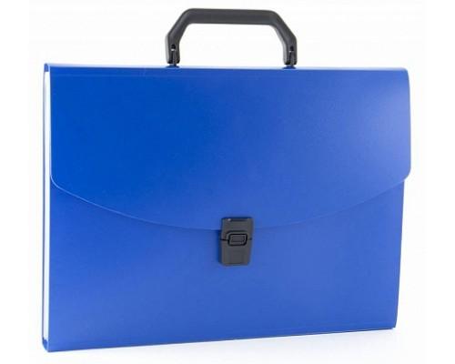 Кан.Портфель пластиковый А4 13 отд.Бюрократ 0.7мм ассорти