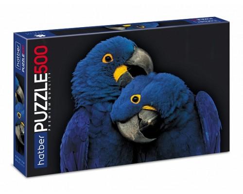 ПАЗЛЫ 500 Два синих попугая